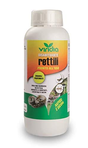 viridia DISABITUANTE RETTILI ML.1000 Serpenti vipere cervoni lucertole gechi barriera Pronto Uso Made in Italy.