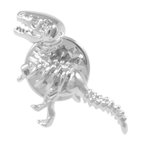 Bonarty Plata Dinosaurio Broche Pin Collar Solapa Breastpin Ramillete Insignia