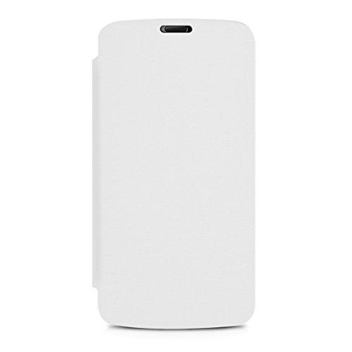 kwmobile Flip Case Hülle für Huawei Honor Holly - Aufklappbare Schutzhülle Tasche im Flip Cover Style in Weiß - 4