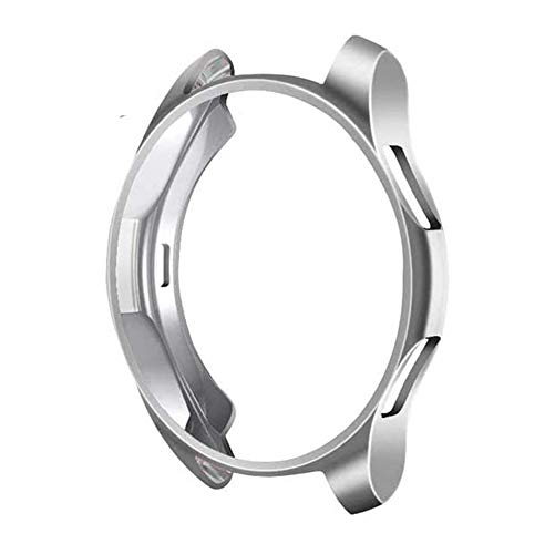MroTech Cover Compatibile con Samsung Galaxy Watch 46mm/Gear S3 Custodia TPU Case Protettiva Thin Fit Cover per S3 Frontier/Galaxy 46 mm Protezione Flessibile Custodia Bumper Shell Protector,Argento