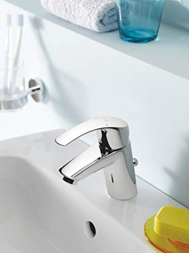 Grohe Eurosmart Waschtischarmatur, mit Zugstange, S-Size, Wasserhahn, Armatur, Waschtischarmatur, Waschbecken, Mischbatterie, Wasserkran (33265002) - 6