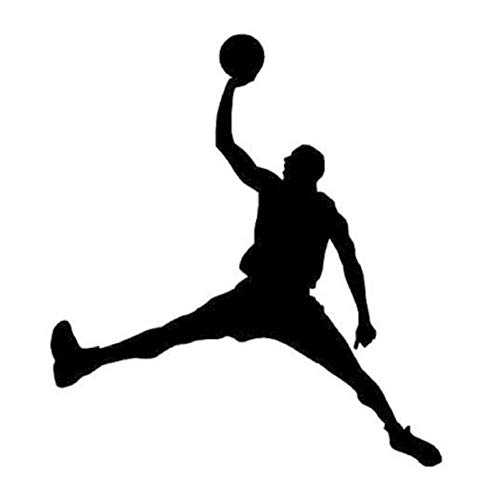 Owenqian Personalizada Coches Stickers, 13cm X 15cm Personalidad Deportes Jugar Baloncesto NBA Moda Creativa Pegatinas de Coche