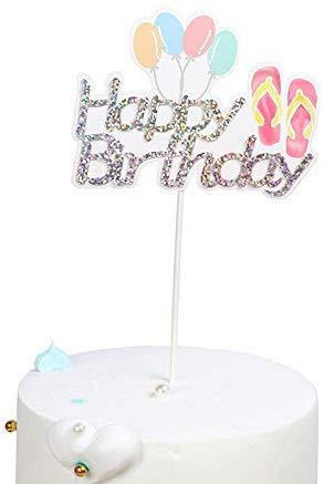 Aohua Partys gebakken cake decoratie zomer regenboog luchtballon ijs crème vruchten Hb cake decoratie stekker