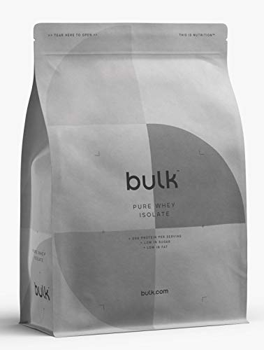 BULK POWDERS Pure Whey Protein Isolate 90 Ultra Low Carb Protein Powder Shake Drink (Birthday Cake, 500g)
