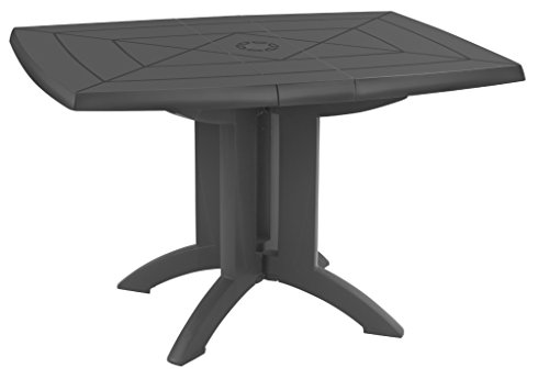 GROSFILLEX Table Vega 118 x 77, Anthracite, 118 x 77 x 72 cm