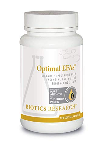 Biotics Research Optimal EFAs- Proprietary Blend of Fish, Flaxseed and Borage Oils. Balance of Omega-3, 6 and 9 Fatty Acids.Supports Immune, Inflammatory Responses,Cardiovascular Neurological Health