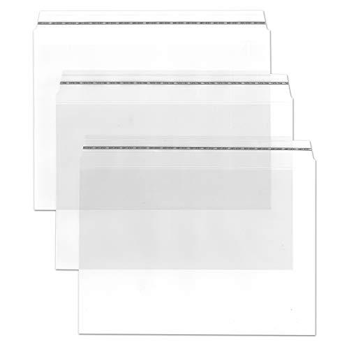 Durchsichtige Briefumschläge in DIN C6-50 Stück - Haftklebung - glasklare Post-Umschläge aus Transparentfolie - 16,2 x 11,4 cm - ideal für Werbung, Einladungen und Präsente - von Gustav NEUSER