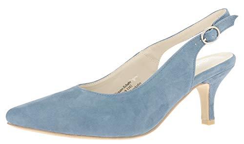 HIRSCHKOGEL Damen 4005710 Slingback Pumps, Blau (Jeans 274), 37 EU