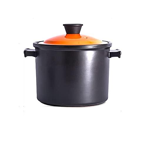Cazuela Potes de sopa de cerámica para placas de inducción Estufa de gas StewPot Stewing Casserole Cerámica Cocinero de cocina (Size : 4.5L)