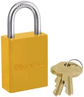 Master Lock 6835YLW Safety Series Padlock, Aluminum Body, 2-Inch, Yellow