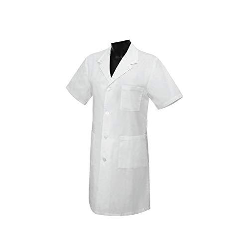 MISEMIYA - Bata Unisex Cuello Solapa Mangas Cortas Uniforme Laboral CLINICA Hospital Limpieza Veterinaria SANIDAD HOSTELERÍA - Ref:8162