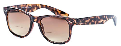 """Lovin Rays"" Polarized Sunglasses with Nearly Invisible Line Bifocal for Men and Women (Tortoise, 2.5)"
