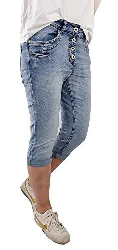 Lexxury Krempel - Bermuda da donna in denim, pantaloni corti in diversi lavaggi, pantaloncini Doppia tasca in denim XL