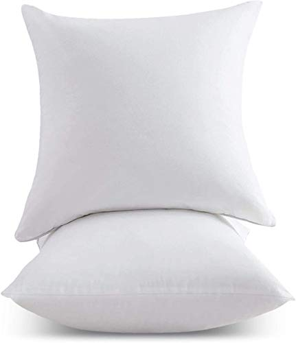 Trading Innovation Hollowfibre Cushion Inserts | Hotel Quality & Extra Comfortable | Hypoallergenic Virgin Fibre Cushion Fillers & Pillow Pads | Suitable for Bed & Sofa (Pack of 4 | 18' x 18')