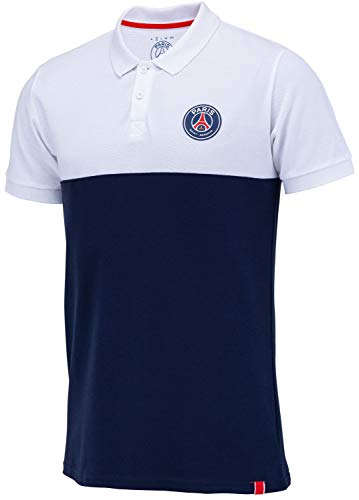 Paris Saint-Germain Poloshirt PSG, offizielle Kollektion, Herrengröße M blau