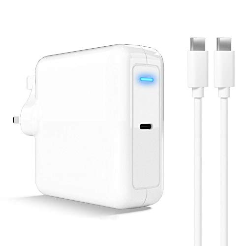Bawanfa USB C PD Charger 87W Power Adapter Compatible with USB-C Laptops, MacBook Pro/Air, iPad Pro, iPhone 11 / Pro/Max/XR/XS/X, Pixel, Galaxy, and More with USB C Cable 6ft