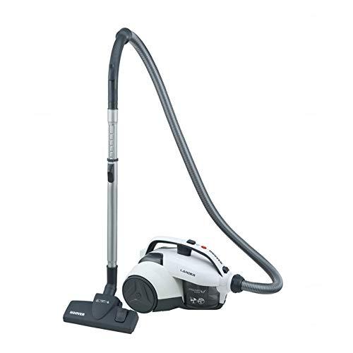 Hoover Lander LA10 Aspirador sin bolsa, Ciclónico, Cepillo para suelos duros y alfombras, polvo, Accesorio rincones, 700 W, 1.2 litros, 78 Decibelios, Plástico, Blanco
