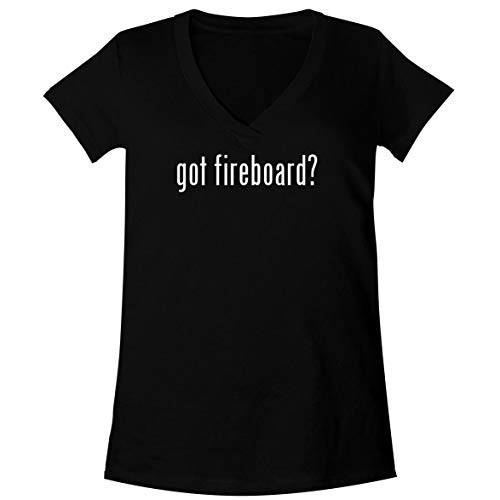 The Town Butler got Fireboard? - A Soft & Comfortable Women's V-Neck T-Shirt, Black, XX-Large