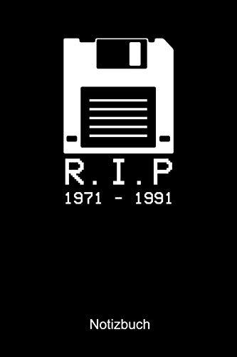 R.I.P 1971 - 1991 NOTIZBUCH: Liniertes Notizbuch für Nerds, Geeks, Internet, Computer, Videospiel und Gaming Fans - Notizheft Klatte für Männer, Frauen und Kinder
