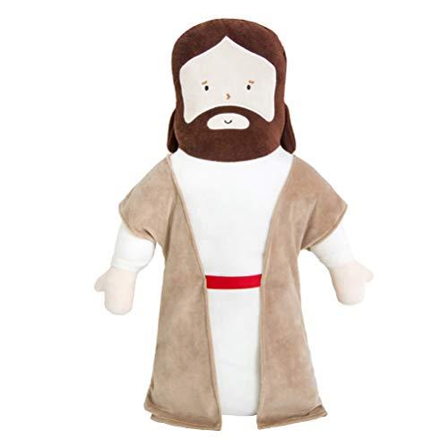 TOYANDONA Jesus Kissen Plüsch Jesus Puppe Jesus Ausgestopfte Puppe Kinder Weihnachtspuppe Weihnachten Party Gefälligkeiten 50X28cm 0. 35Kg
