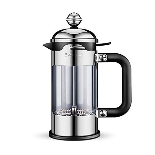 Ręczny młynek do kawy Ręczny młynek do kawy Ekspres do kawy, żaroodporne szkło borokrzemianowe, ekspres do kawy Filtr do kawy Ekspres do kawy Prasa ręczna ze stali nierdzewnej, srebrny (rozmiar: 10.82