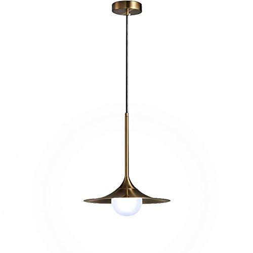 MKKM Nordic Light Colgante Creativo, Postmodern G9 Bronce Cepillado de la Lámpara, Retro Lámparas de Techo Luz de Techo Lámpara de Escalera Comedor Dormitorio 1-Light 26X31Cm