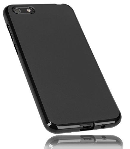 mumbi Hülle kompatibel mit Huawei Y5 2018 Handy Hülle Handyhülle, schwarz