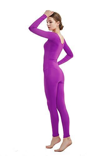 Full Bodysuit Womens Long Sleeve One Piece Jumpsuit Spandex Zentai Unitard