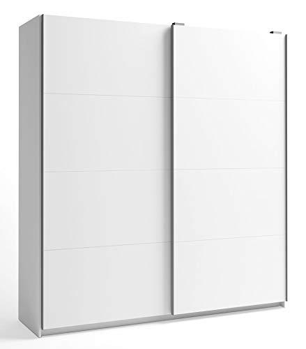 Miroytengo Armario Gran Savona 2 Puertas correderas Color Blanco habitación Dormitorio Matrimonio 216x202x56 cm…