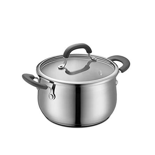 Casserole à induction 20 / 22CM pour cuisinière à épaississement de ménage en acier inoxydable 304 de pot de soupe convenant à l'utilisation (taille : S)