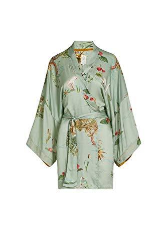 PIP Studio Noon Kimono Swan Lake Big Light Farbe Green Größe L Morgenmantel Kurzmantel