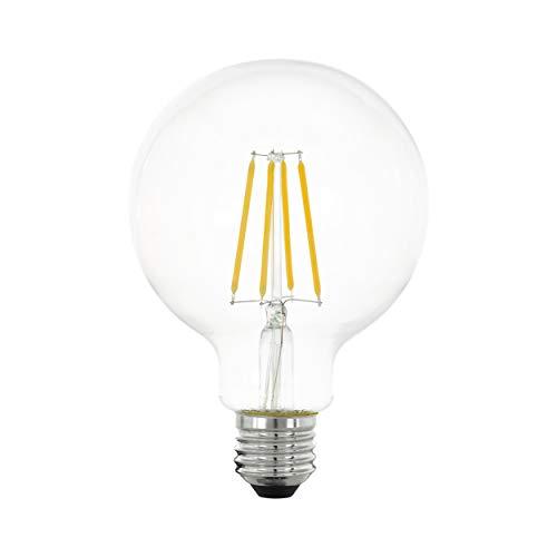 EGLO LED E27 regulable en niveles, bombilla clásica para iluminación retro, 6 W (equivalente a 60 W), 806 lúmenes, LED E27 blanco cálido, 2700 K, bombilla LED, bombilla Edison G95, diámetro 9,5 cm