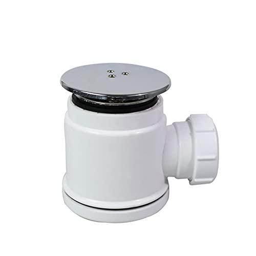 XUNLAN Durable Cuarto de baño Moderno Lavabo de Lavabo Trampa Trampa de residuos Kit de desagüe de residuos Fast Flow Bandeja de Ducha Fit para Cajas de Ducha D0002 Wearable (Color : White)