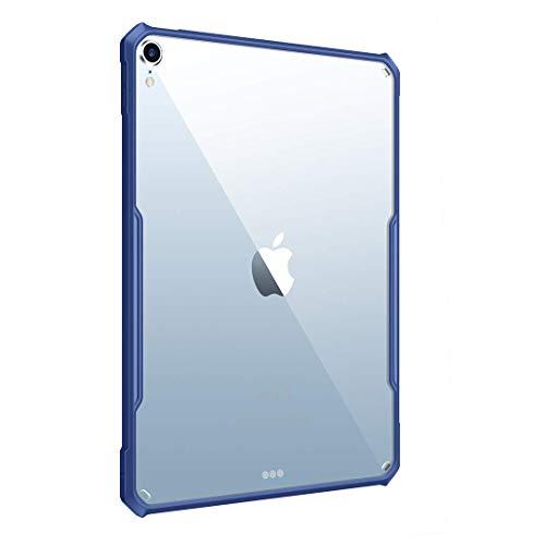 Funda para iPad Air 4 de 10,9 pulgadas 2020 [Soporte Apple Pencil Charging] Flexible TPU Air-Pillow Edge Bumper Ultra Delgado Transparente Hard PC Carcasa Trasera Conchas de PC, Azul