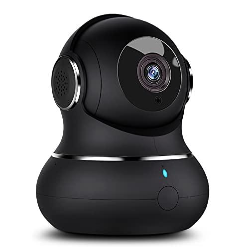Little elf Überwachungskamera, [2021 Neu] 1080P Hunde Kamera mit Bewegungserkennung, Nachtsicht, Zwei-Wege-Audio, WLAN IP Kamera für Haustier/Hunde, 360 Grad Babyphone Kamera kompatibel mit Alexa