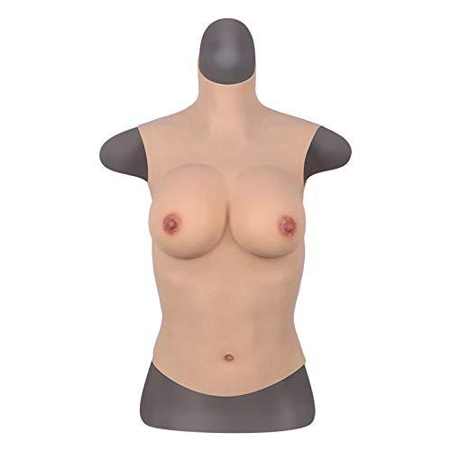 K99 Pechos Falsos realistas - Formas de Mama de Silicona - Alto diseño de Cuello potenciador mamario para C-G Cup Crossdresser Transgender Mastectomía,C Cup