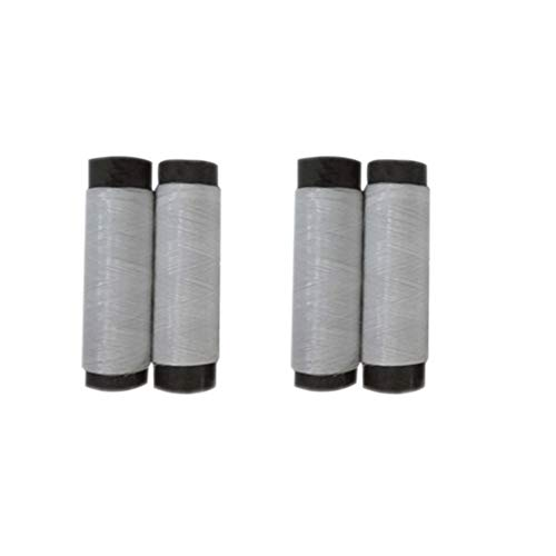 2 Piece Elastic Thread, Elastic Invisible Knitting-in Yarn 200m for Cuffs, Collars, Waists,Total Length 400m