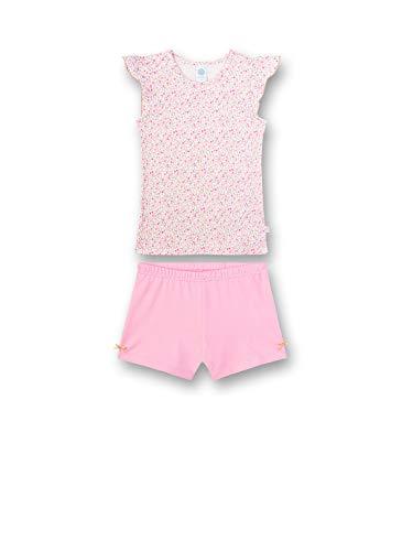 Sanetta Mädchen Pyjama Kurz Zweiteiliger Schlafanzug, Rosa (rosa 3813), 92 (Herstellergröße:092)