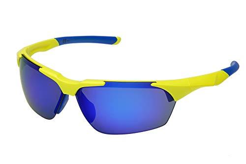 Ravs Gafas de ciclismo, cicloss, triatlón, de carreras, para bicicleta, para deportes al aire libre (amarillo, azul)