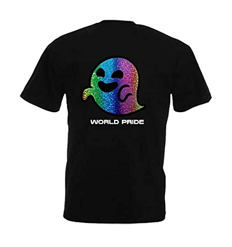 TOXE WEAR Camiseta Gaysper - Fantasma Gay - Pride World - (S, Negro)