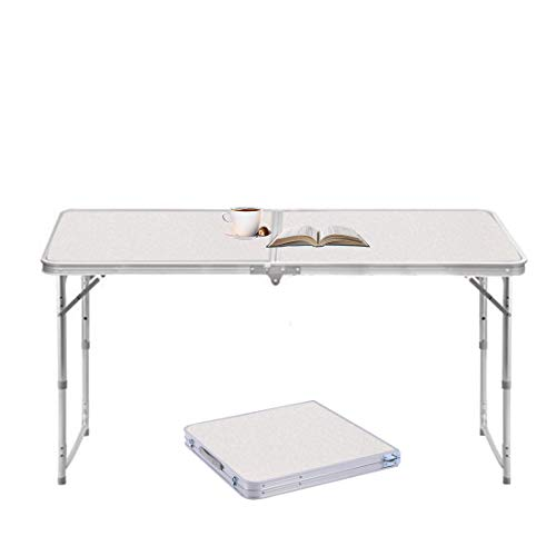 4FT Folding Table Aluminum Portable Camping Table Outdoor Picnic/BBQ/Garden Party/Car Boot Self-Driving Tour