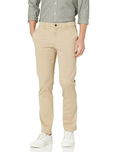 Amazon Brand - Goodthreads Men's Slim-Fit Washed Stretch Chino Pant, Khaki, 30W x 34L