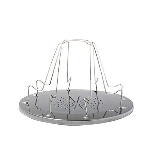 Odoukey Tostadora portátil Plataforma de Camp tostadora del Pan Plegable de 4 Piezas de Pan Tostado Pan Placa Comida campestre Que acampa Parrilla Bandeja Plegable al Aire Libre