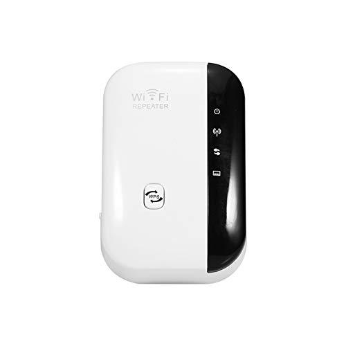 Fesjoy Amplificador de señal WiFi, repetidor inalámbrico, 300 m, extensor de alcance Wi-Fi para el hogar y la oficina, enchufe de la UE