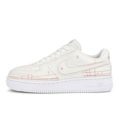 Nike Unisex Air Force 1 Low Sneaker leer wit CI3445-100