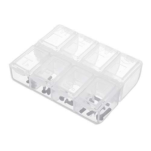 Landa tianrui 5pcs / Set 8 Ranuras Caja de Almacenamiento de Piezas de plástico Caja asjustable Organizador de hogar Tornillos Caja Bricolaje y Herramientas