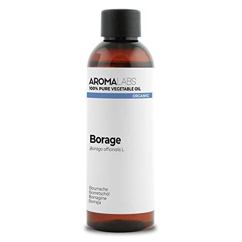 BIO - Olio di Borragine, garantito 100% puro, naturale e spremuto a freddo - Biologico certificato da Ecocert - Aroma Labs