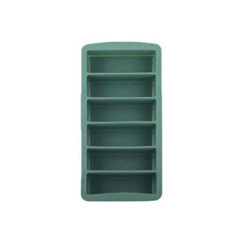 Aurely Siliconen ijsblokjesvorm, ijsblokjesvorm, met deksel, 6-voudig, rechthoekig, Easy Release ijsmachine, voor whiskycocktail, babyvoeding, 24,5 x 12 cm