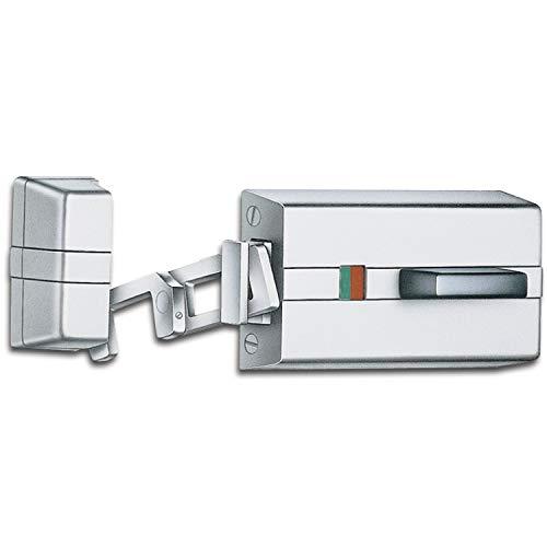 EVVA K-900 Kasten-Riegelschloss, Massives Zusatzschloss für jede Türe zum optimalen Einbruchschutz, ohne Aussenzylinder, rechts, Stahl silber, 1 Stück