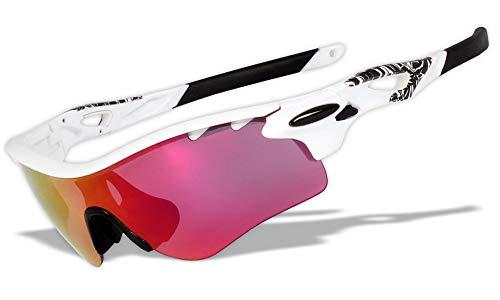 スポーツサングラス専門 調光 偏光 イリジウム レンズ3枚 スイッチ交換 オリジナル Radarlock スポーツサングラス (RL75)